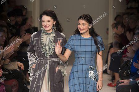 Luisa Beccaria and Lucilla Bonaccorsi di Reburdone on the catwalk