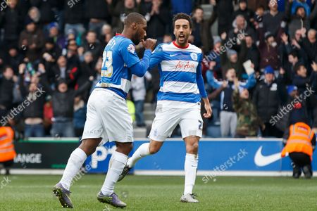 David Hoilett of QPR celebrates scoring a goal after making it 2-0 during the SkyBet Championship match between QPR and Birmingham City played at Loftus Road Stadium, London on February 27th 2016