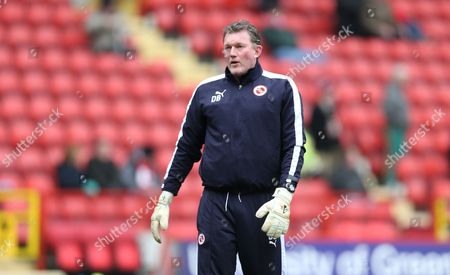 Reading goalkeeping coach Dave Beasant during the Sky Bet Championship match between Charlton Athletic and Reading at The Valley, London