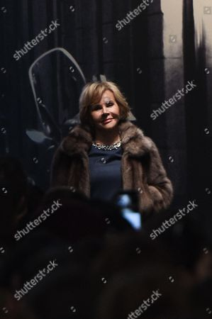 Designer Anna Molinari on the catwalk