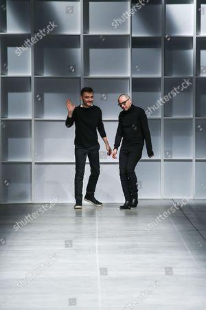 Stock Photo of Tommaso Aquilano and Roberto Rimondi on the catwalk