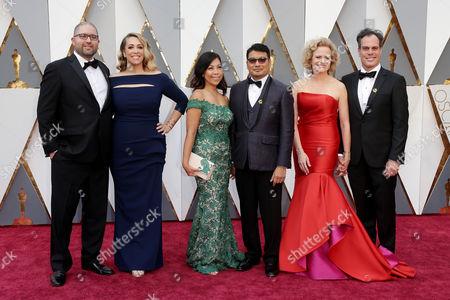 Stock Picture of Josh Cooley, Ronnie del Carmen, Meg LeFauve and guests