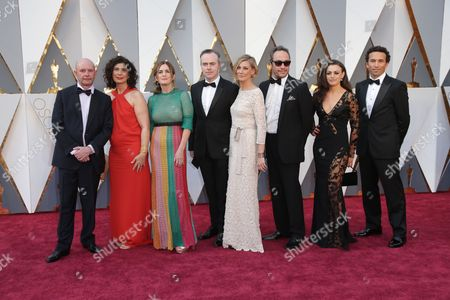Stock Image of Nick Hornby, Finola Dwyer, Amanda Posey and guests