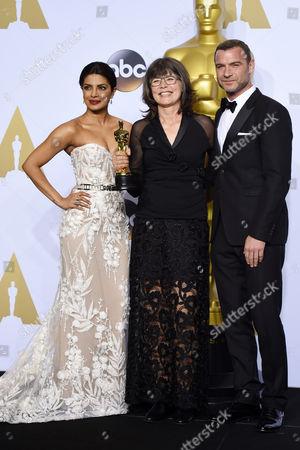 Priyanka Chopra, Margaret Sixel and Liev Schreiber - Achievement in Film Editing, Mad Max: Fury Road