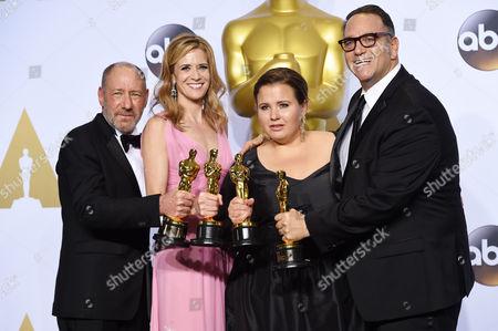 Michael Sugar, Steve Golin, Nicole Rocklin and Blye Pagon Faust - Best Picture, Spotlight
