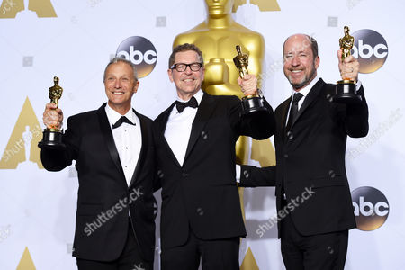 Stock Image of Paul Massey, Mark Taylor and Mac Ruth - Achievement in Sound Mixing, The Martian