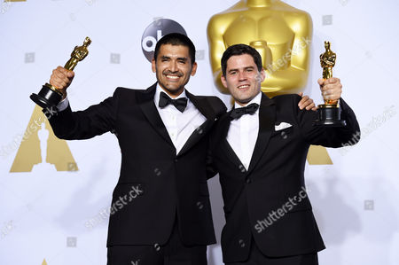 Stock Picture of Gabriel Osorio Vargas and Pato Escala Pierart - Best Animated Short Film, Bear Story