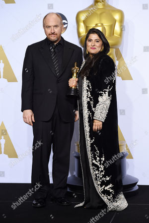 Louis CK and Sharmeen Obaid-Chinoy - Best Documentary Short Subject, A Girl in the River: The Price of Forgiveness
