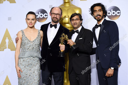 Daisy Ridley, James Gay-Rees, Asif Kapadia and Dev Patel - Best Documentary Feature, Amy