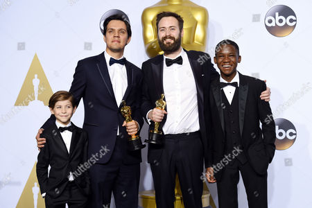 Jacob Tremblay, Benjamin Cleary and Shan Christopher Ogilvie and Abraham Attah - Best Live Action Short Film, Stutterer