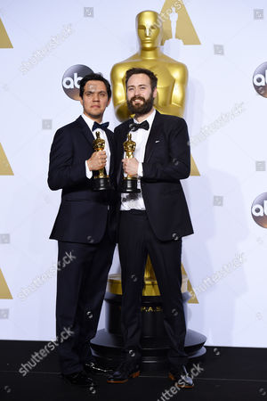 Stock Picture of Benjamin Cleary and Shan Christopher Ogilvie - Best Live Action Short Film, Stutterer