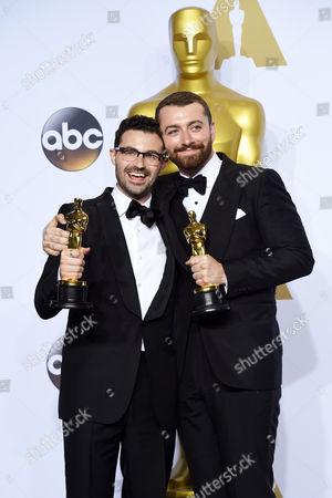 Stock Photo of Jimmy Napes and Sam Smith - Original Song, Writing's On the Wall, Spectre