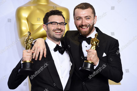 Stock Picture of Jimmy Napes and Sam Smith - Original Song, Writing's On the Wall, Spectre
