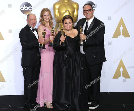 Stock Photo of Michael Sugar, Steve Golin, Nicole Rocklin and Blye Pagon Faust - Best Picture, Spotlight