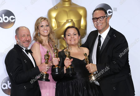 Stock Picture of Michael Sugar, Steve Golin, Nicole Rocklin and Blye Pagon Faust - Best Picture, Spotlight
