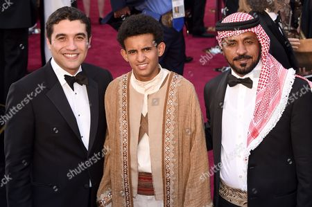 Stock Photo of Best Foreign Film Director Naji Abu Nowar and cast