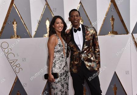 Orlando Jones and Diane Mizota