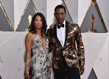 Stock Image of Orlando Jones and Diane Mizota