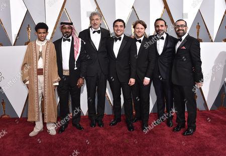 Best Foreign Film Director Naji Abu Nowar and cast