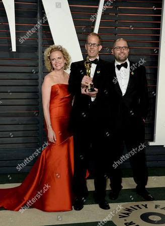 Stock Photo of Meg LeFauve, Pete Docter and guest