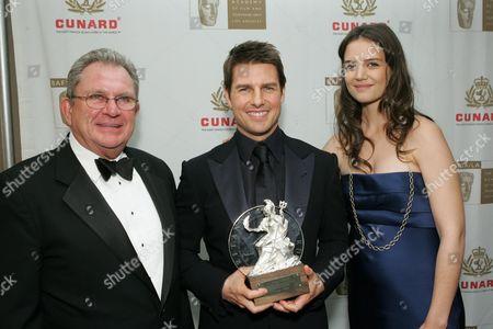 Stock Image of BAFTA/LA chair Gary Dartnall, Tom Cruise and Katie Holmes