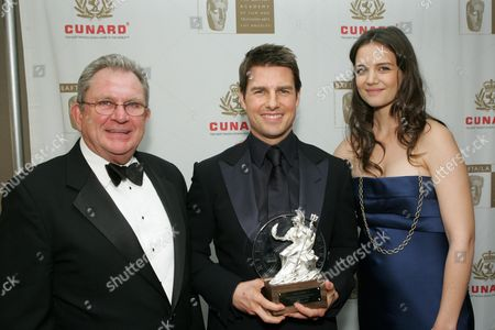 Stock Picture of BAFTA/LA chair Gary Dartnall, Tom Cruise and Katie Holmes