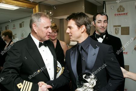 Cunard Captain David Christie and Tom Cruise