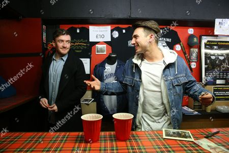 The LaFontaines - John Gerard and Kerr Okan at their merchandising stall