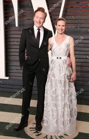 Conan O'Brien and Liza Powel