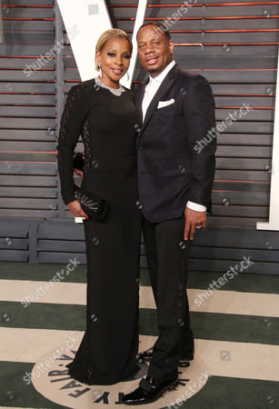 Stock Photo of Mary J Blige and Kendu Isaacs