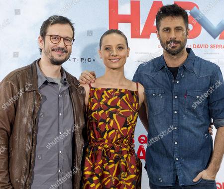 David Serrano, Michelle Jenner and Hugo Silva