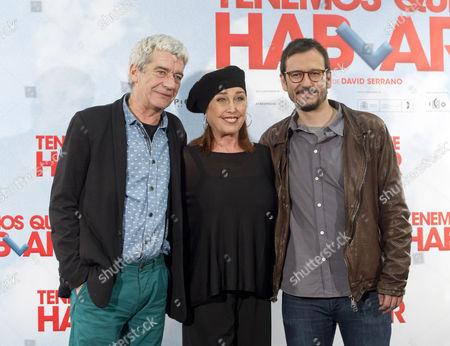 Oscar Ladoire, Veronica Forque and David Serrano
