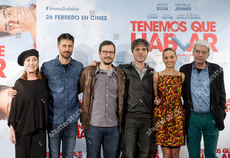 Stock Image of Veronica Forque, Hugo Silva, David Serrano, Ernesto Sevilla, Michelle Jenner and Oscar Ladoire