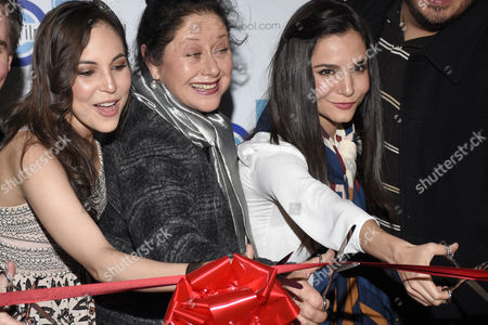 Miri Higareda, Angelica Aragon, Martha Higareda attend Film School Opening on February 25, 2016 in Mexico City, Mexico. Photo by Carlos Tischler/ Rex Shutterstock