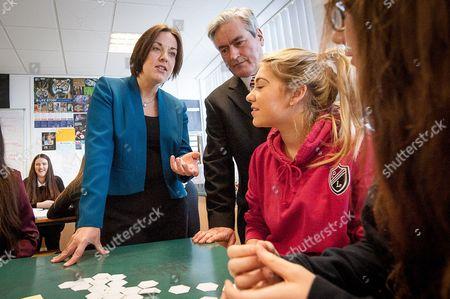 Scottish Labour leader Kezia Dugdale and Iain Gray MSP