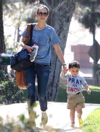 Jordana Brewster and son Julian Brewster-Form
