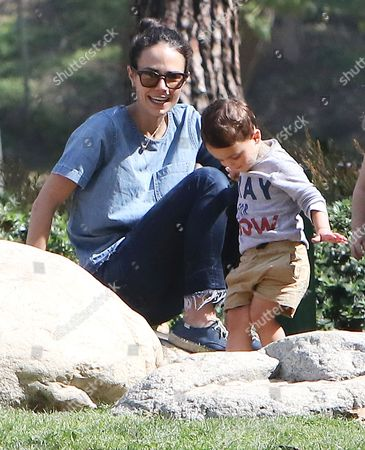 Stock Photo of Jordana Brewster and son Julian Brewster-Form