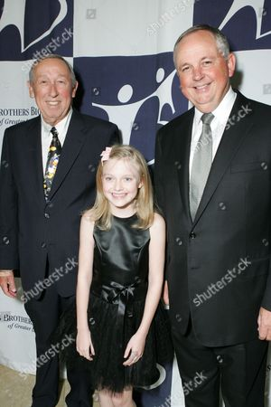 Roy Disney, Dakota Fanning and Dick Cook