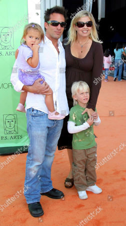 Dan Cortese and Dee Dee Hemby with daughter India and son Roman
