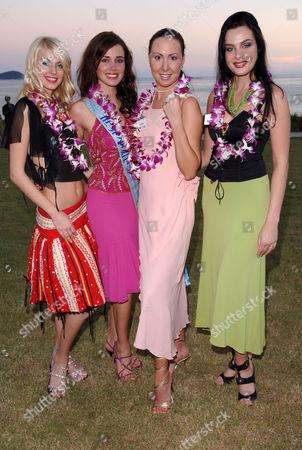 Yuliya Pinchuk Miss World Ukraine, Miss World 2004 Maria Julia Mantilla Garcia, Valerija Sevcuka Miss World Latvia, Yulia Ivanova Miss World Russia