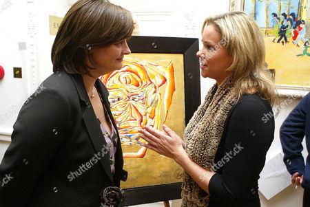 Cherie Blair with artist Marie Guerlain