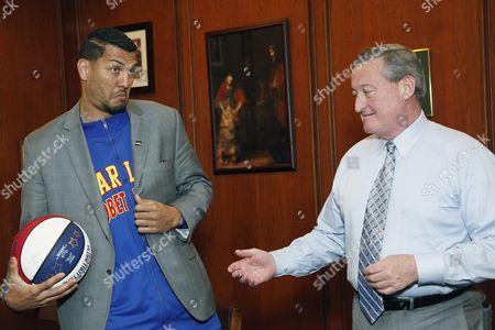 Stock Image of Mayor James Kenney & El Gato & Hawk