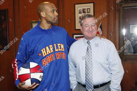 Stock Picture of Mayor James Kenney & El Gato & Hawk