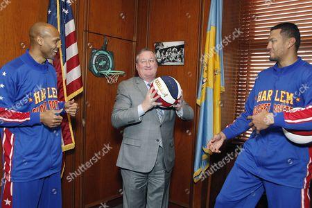 Stock Photo of Mayor James Kenney & El Gato & Hawk