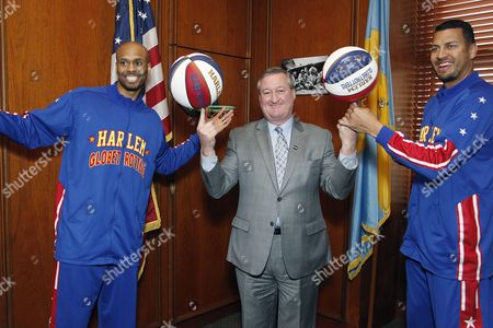 Editorial photo of Harlem Globetrotters visit Mayor James Kenney, Philadelphia, America - 29 Feb 2016