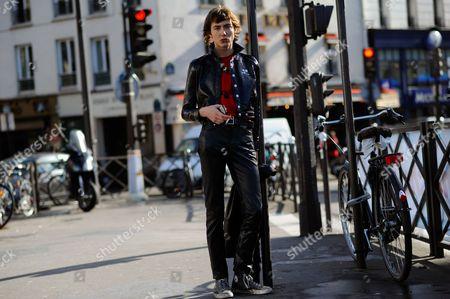 Stock Image of Model Paul Hameline after Courrèges at Opéra Bastille.