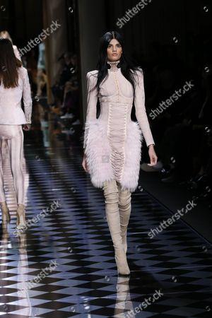 Editorial image of Balmain show, Runway, Autumn Winter 2016, Paris Fashion Week, France - 03 Mar 2016