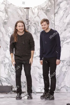 Stock Image of Alexis Martial and Adrien Caillaudaud on the catwalk