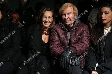 Stock Image of Donna Karan and Claude Montana in the front row