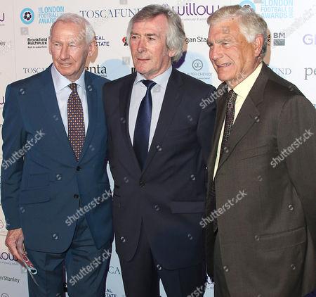 Bob Wilson, Pat Jennings and Sir Trevor Brooking